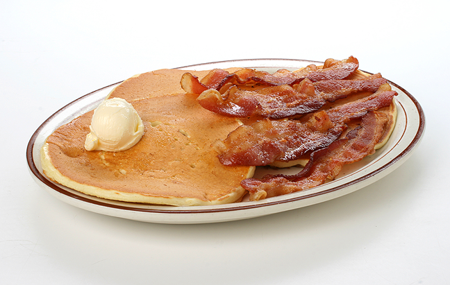 pancake and bacon breakfast - photo #17